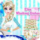 Jogo Elsa Washing Dishes