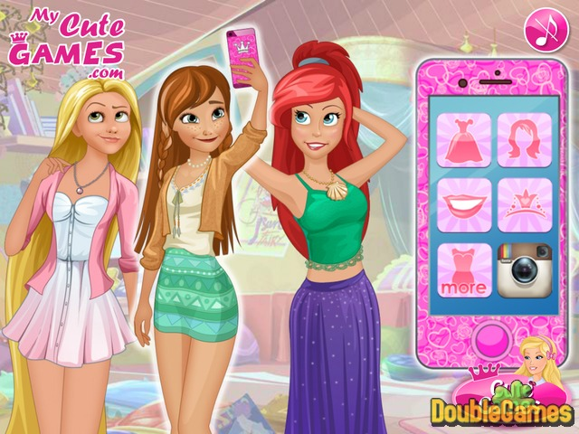 Selfie das Princesas jogos online de menina